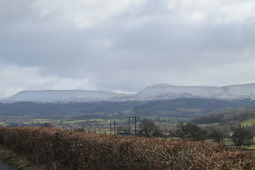Hay Bluff, Twmpa, Black Mountains, snow